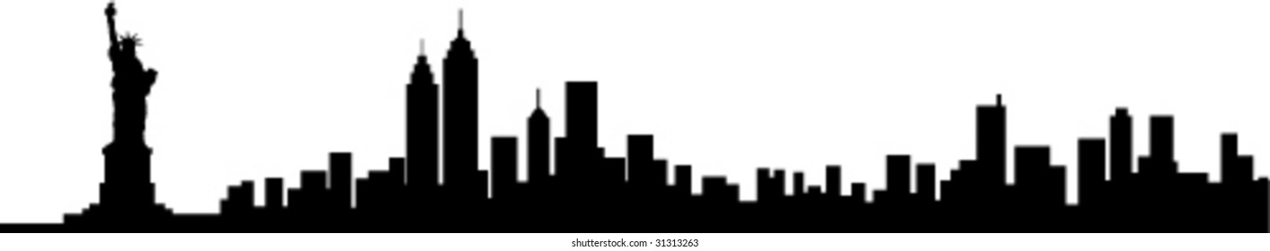 New York City Skyline Silhouette
