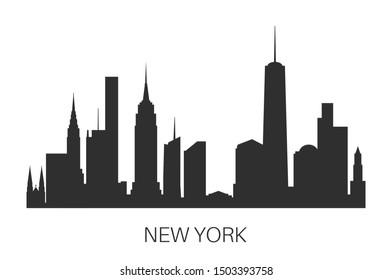 New York City skyline. Vector illustration