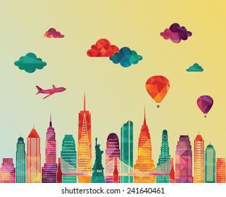 New York city skyline. Vector illustration