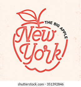 New York city typography line art design. For apparel,t-shirt,print,home decor elements.