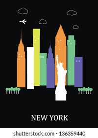New York city. USA.Vector illustration.