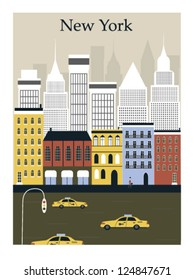 New York city. Vector