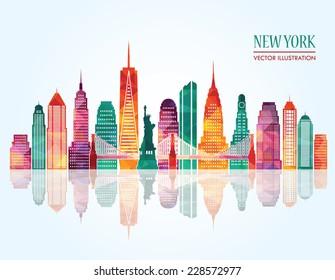 New York city. Vector illustration