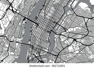 Nyc Subway Map Dark.New York City Map Images Stock Photos Vectors Shutterstock