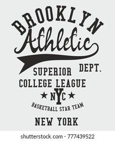 New York College Athletic Academy graphic design vector art