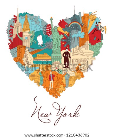 New York Colorful vector