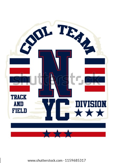 New York Cool Teamtshirt Design Stock Vector (Royalty Free ...