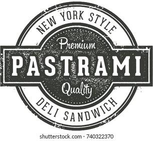 New York Deli Style Pastrami Sandwich Sign