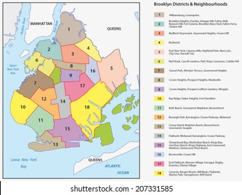 new york districts brooklyn map