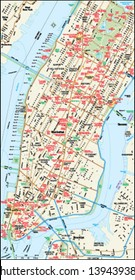New York, New York downtown map