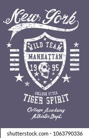 New york graphic design vector art