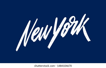 New York handwritten city name.Modern Calligraphy Hand Lettering for Printing,background ,logo, for posters, invitations, cards, etc. Typography vector.