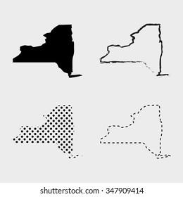 New York Map Designs