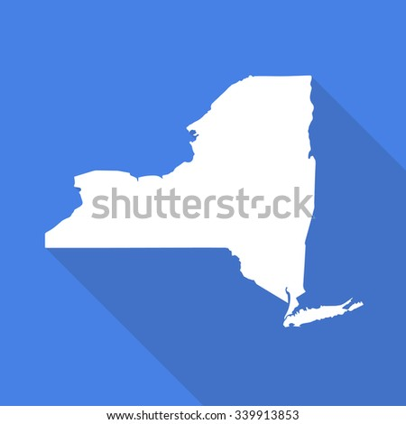 New York Map Flat Simple Style Stock Vector (Royalty Free) 339913853 ...