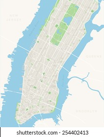 New York Map - Lower and Mid Manhattan