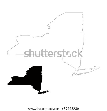 New York Map Vector Illustration Stock Vector Royalty Free