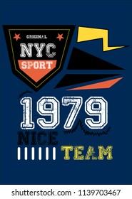 new york nice team,t-shirt design