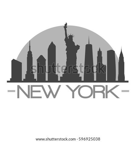 new york ny skyline silhouette skyline stock vector royalty free