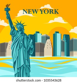 New York poster, statue of Liberty