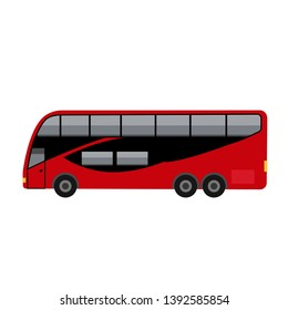 new york red bus illustration vector