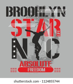 New York skate graphic design veçtor art