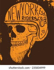 new york skull tee graphic
