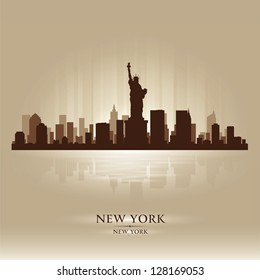 New York skyline city silhouette