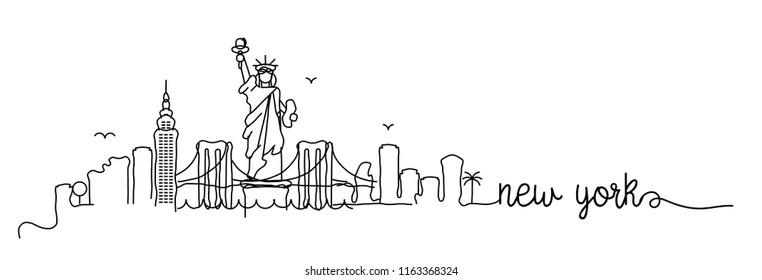 New York Skyline Signature Design