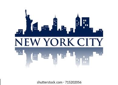 New York Skyline Silhouette City logo