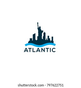 New York skyline vector logo