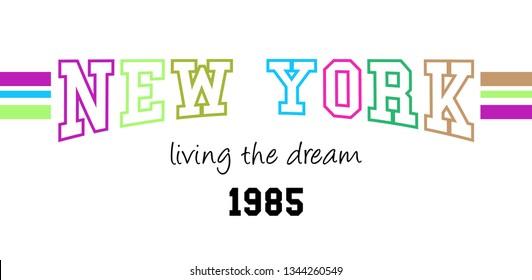NEW YORK SLOGAN, t-shirt vector design