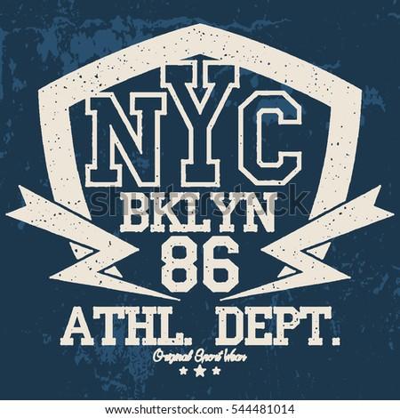 New York Sport Wear Typography Emblem Stock Vector (Royalty Free ... de4b0b2ba