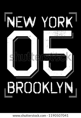 83eacf05 new york sports brooklyn varsity urban design apparel distressed - Vector