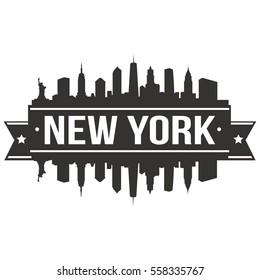 New York Stamp Skyline