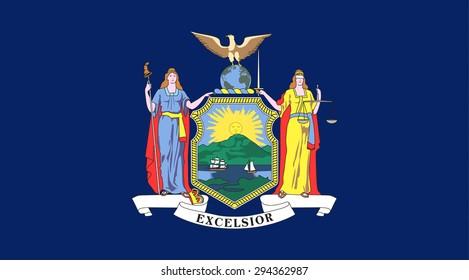 New York state national flag. Vector EPS8