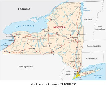 New York State Map Images Stock Photos Vectors Shutterstock