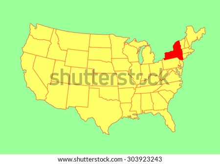 Blank New York State Map.New York State Usa Vector Map Stock Vector Royalty Free 303923243