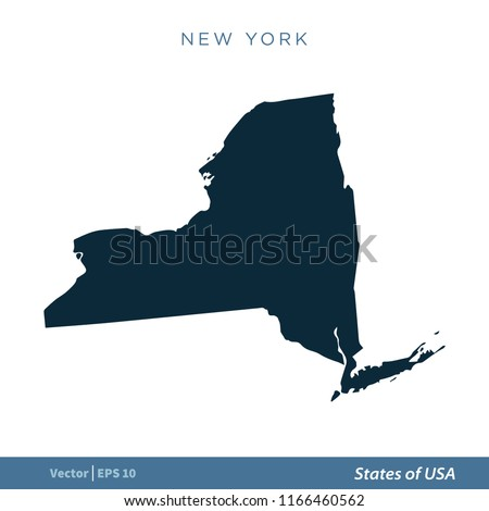 New York States US Map Icon Stock Vector (Royalty Free) 1166460562 ...
