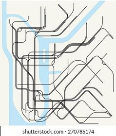 Underground Map New York Stock Vectors, Images & Vector Art ...