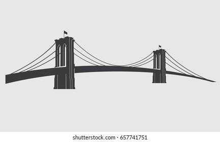 brooklyn bridge vector images stock photos vectors shutterstock rh shutterstock com brooklyn bridge silhouette vector free brooklyn bridge vector free download