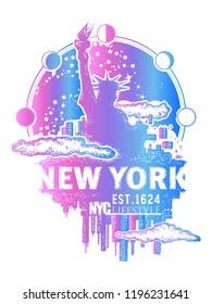 New York tattoo and t-shirt design