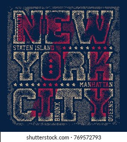 New york tee print with city streets t shirt design graphics stamp