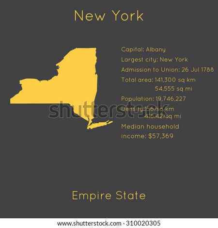 New York Template Main Information Map Stock Vector (Royalty Free ...