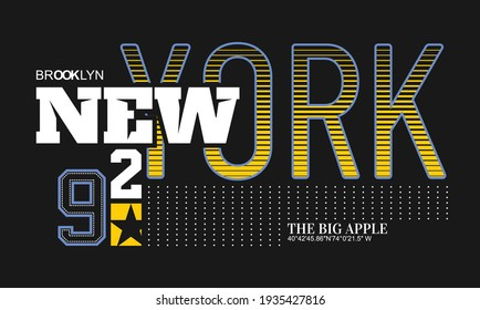 New York typography design in vector illustration