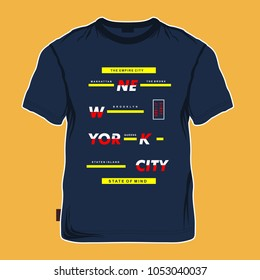 new york typography for printing tee shirt design graphic, vector illustration urban young generation