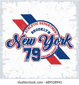 New York vector T-shirt graphic design