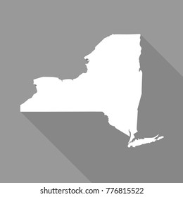 New York Grey State Border Map Stock Vector (Royalty Free) 316170932 ...