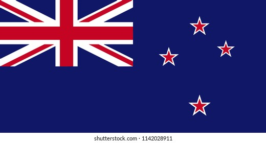 New Zealand Country Flag Illustration Design