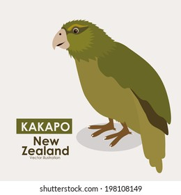 New zealand design over beige background, vector illustration