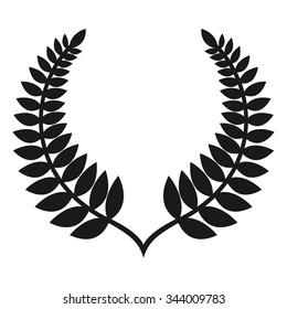 new zealand fern logo vector.